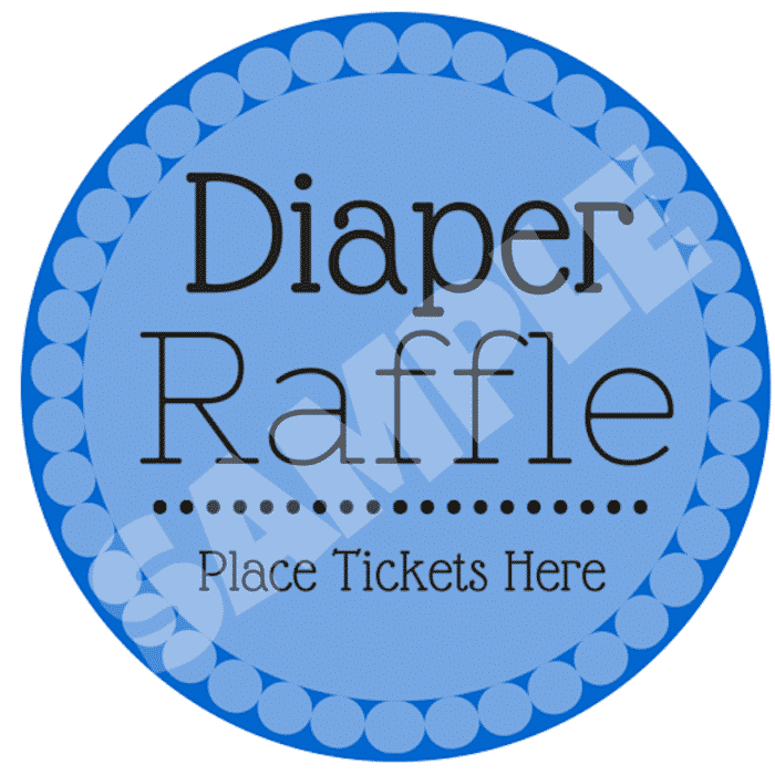 diaper raffle template for ticket jar