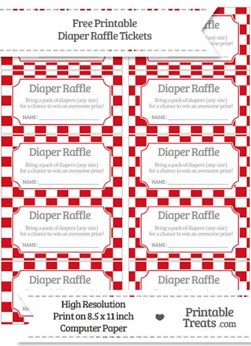 10 Free Printable Diaper Raffle Tickets Page 2