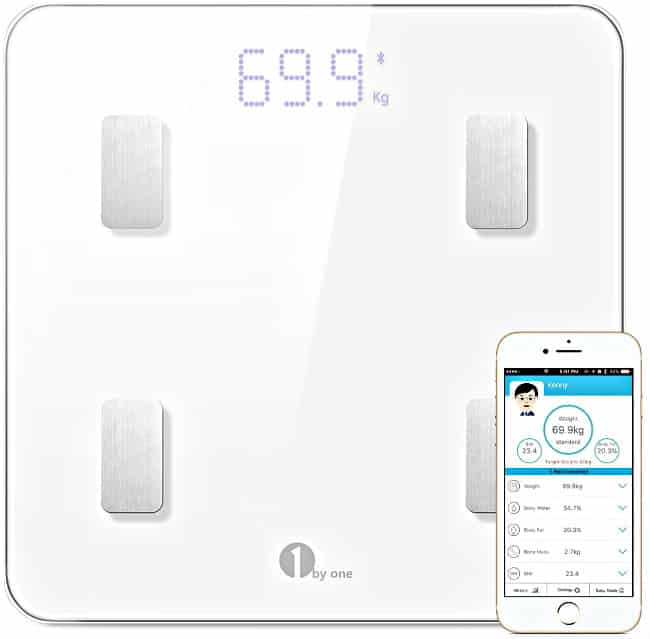 1byone Bluetooth Body Fat Scale