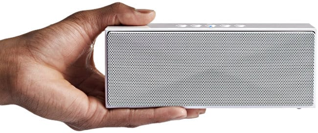 AmazonBasics Wireless Bluetooth Dual Speaker fits in your hand