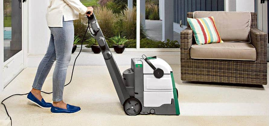 Bissell Professional Carpet Cleaner in use