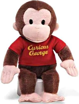 12-Inch Gund Curious George Stuffed Animal