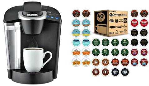 Keurig Brewer & 40 ct Variety Pack of K-Cups