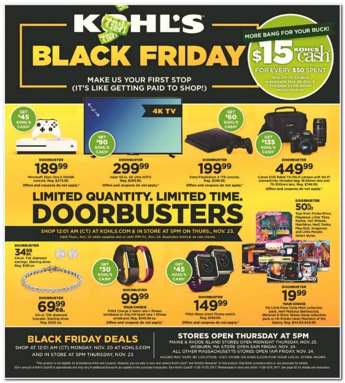 2017 Kohl's Black Friday ad