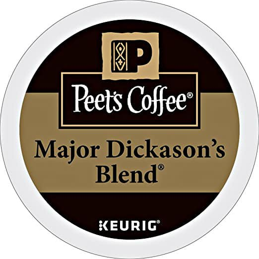 32ct K-Cup Packs Peet's Coffee Major Dickason's Blend Dark Roast