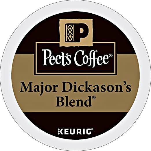 32ct K-Cup Packs Peet's Coffee Major Dickason's Blend Dark Roast