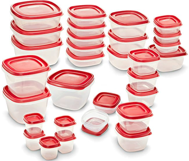 60-Piece Rubbermaid Easy Find Lids Food Storage Container Set