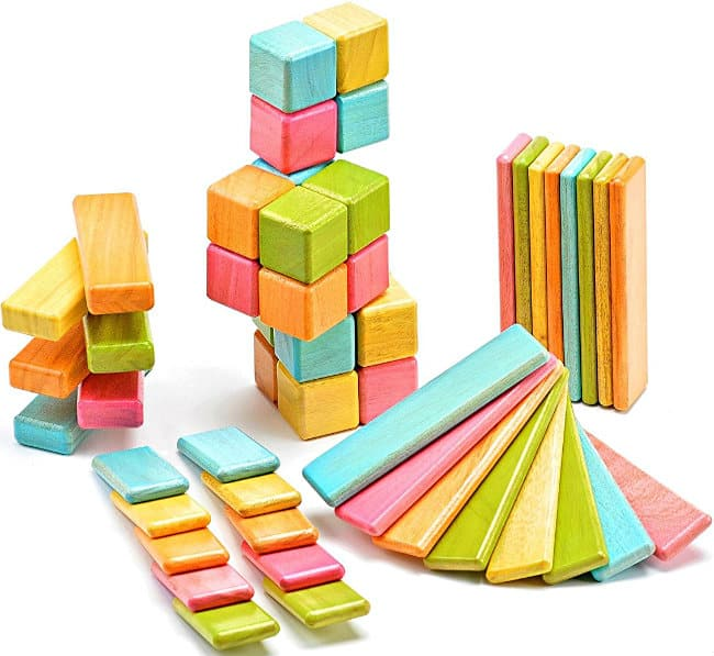 52-Piece Tegu Original Magnetic Wooden Block Set