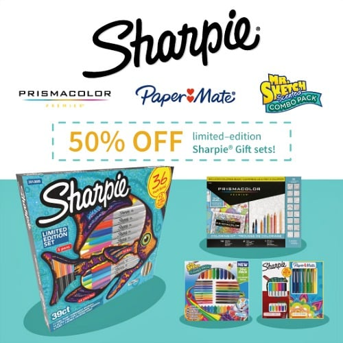 50% off limited edition Sharpie gift sets
