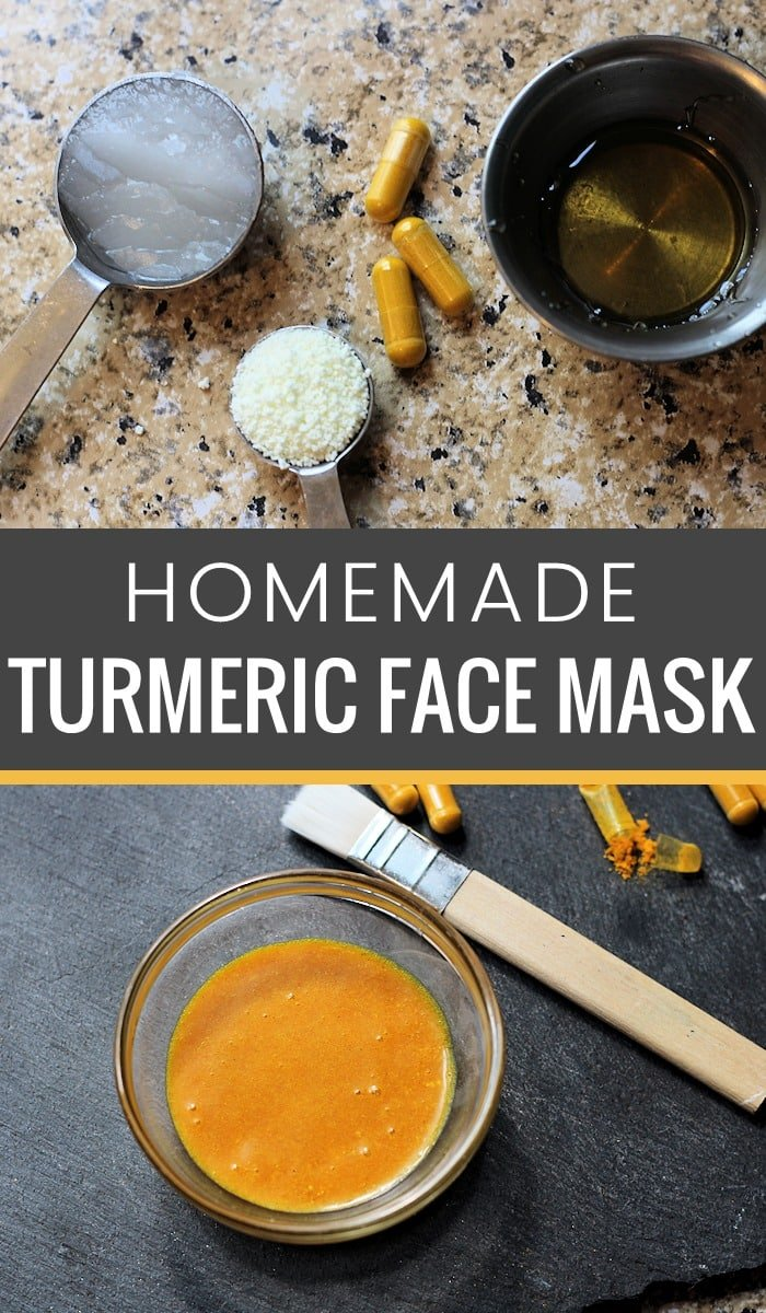 Do you need a homemade face mask recipe that will not only deep clean your pores but help treat acne, eczema, psoriasis, wrinkles, dry skin and more skin issues? You've gotta try this easy to make, 4-ingredient Homemade Turmeric Face Mask recipe. All you need is turmeric powder, coconut oil, honey and powdered milk to whip up this powerful homemade beauty product. #facemask #homemadefacemask #diyfacemask #beauty #diybeauty #homemadebeauty #turmeric #acne #wrinkles #eczema #psoriasis #dryskin