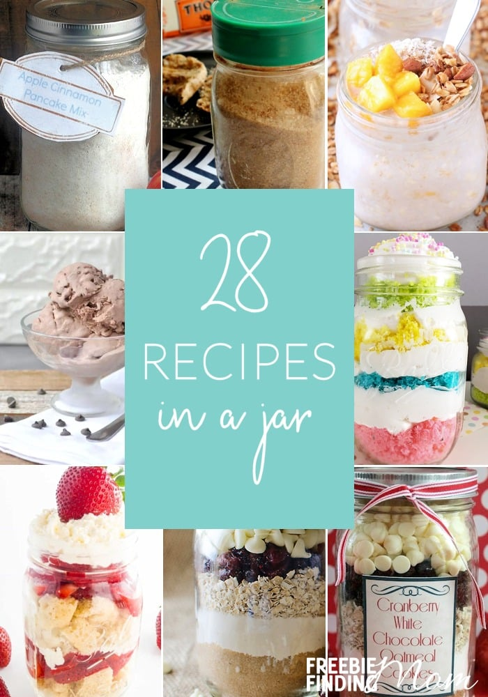 Whether you're looking for delicious dishes for your holiday menu or inexpensive heartfelt gifts, recipes in a jar can help. Here you'll find easy and delicious Mason jar breakfast recipes and Mason jar dessert recipes along with a handful of other fun gifts in a jar recipes. These Mason jar gifts are perfect for most anyone on your Christmas shopping list especially teachers, friends and family. #recipesinajar #masonjar #masonjarrecipe #giftsinajar #homemadegifts #diygifts