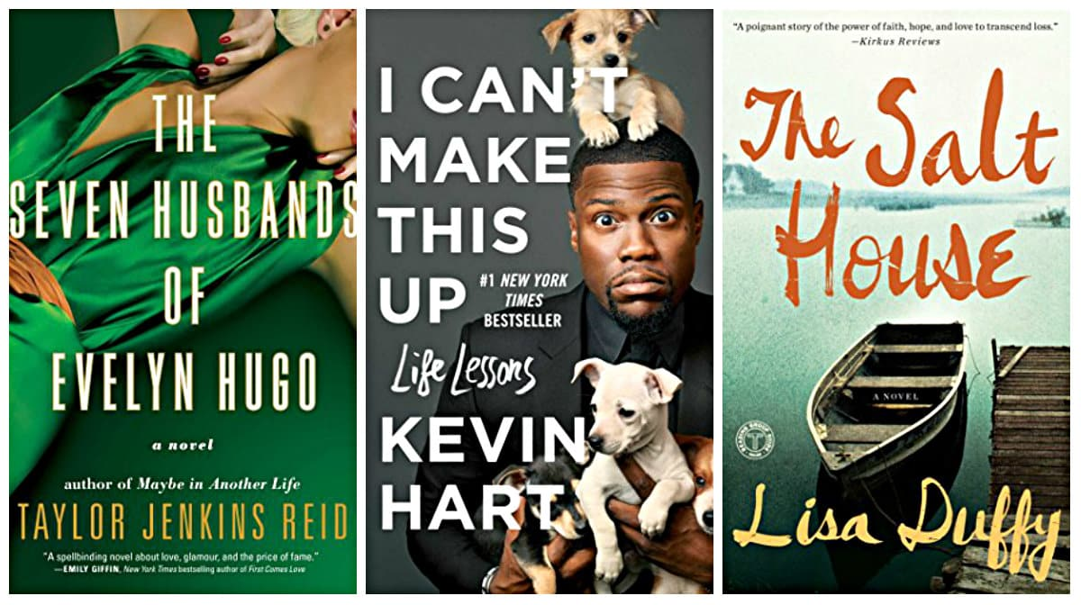 The Seven Husbands of Evelyn Hugo: A Novel by Taylor Jenkins Reid, The Salt House: A Novel by Lisa Duffy, I Can't Make This Up: Life Lessons by Kevin Hart