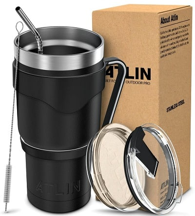 30 oz. Double Wall Stainless Steel Atlin Tumbler