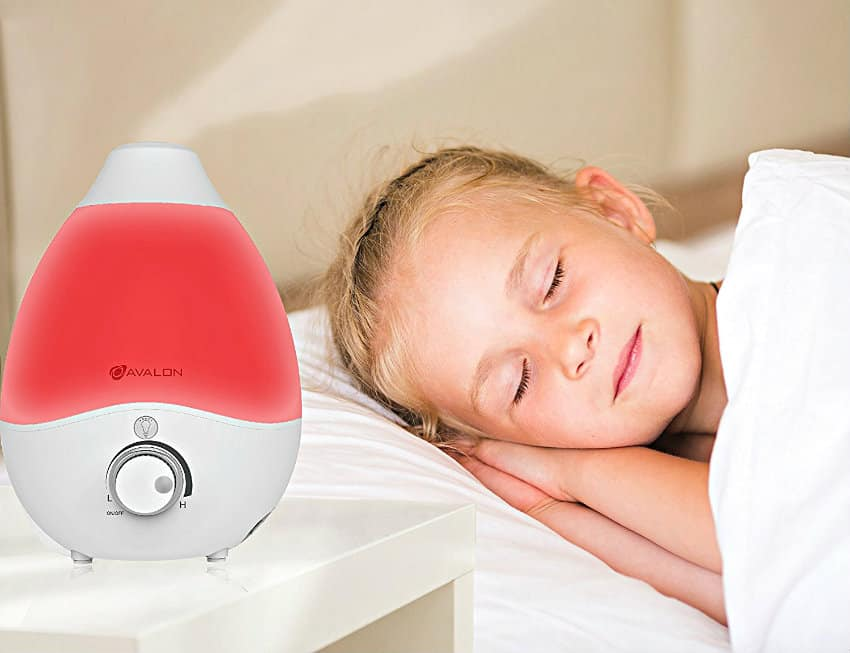 Avalon Premium Cool Mist Humidifier in use