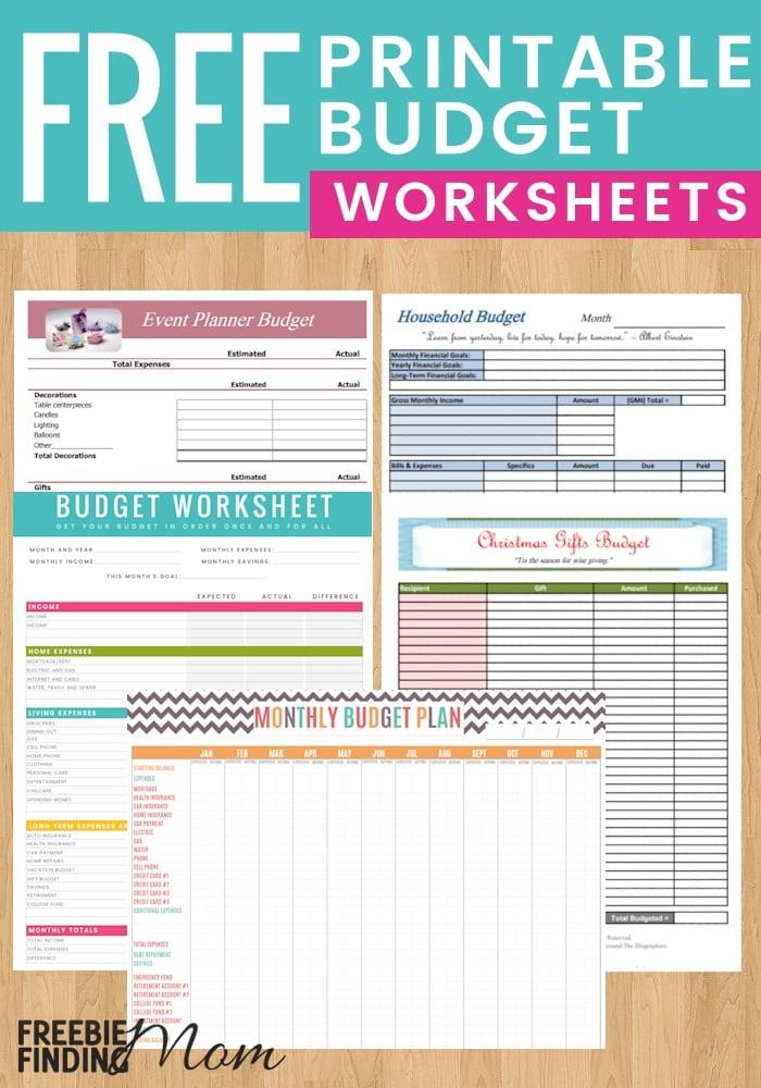 5 Reasons to Use Free Printable Budget Worksheet Templates – Free Budget Worksheets