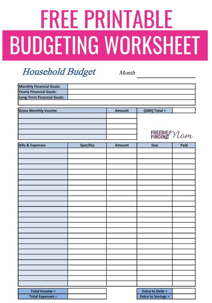 image regarding Printable Budget Planner identify Cost-free Printable Finances Worksheets
