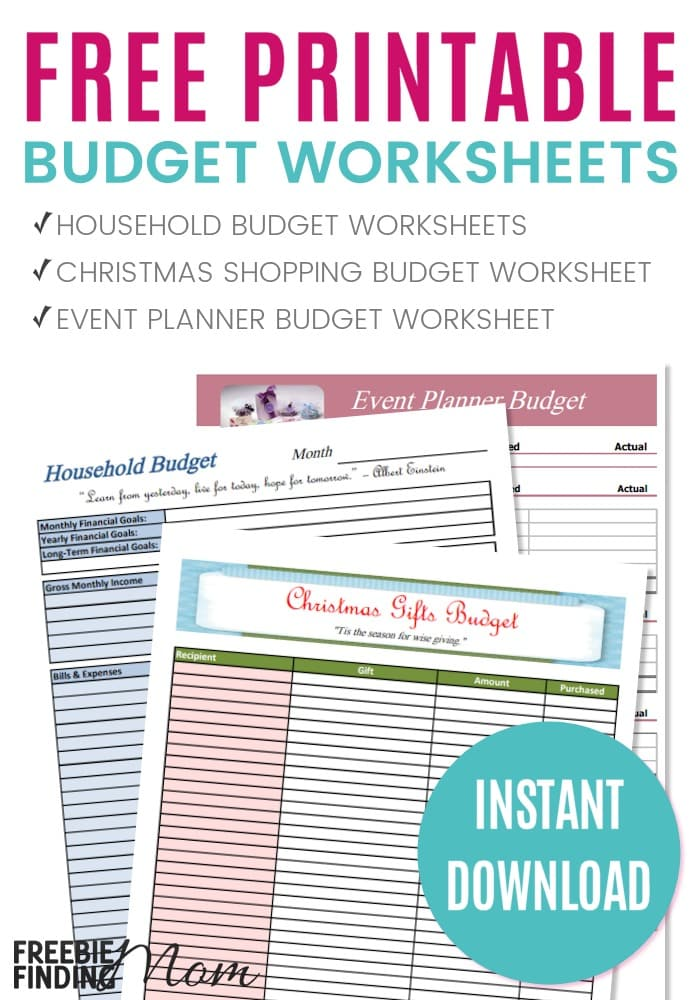 photo relating to Free Printable Organizing Sheets called Free of charge Budgeting Worksheets