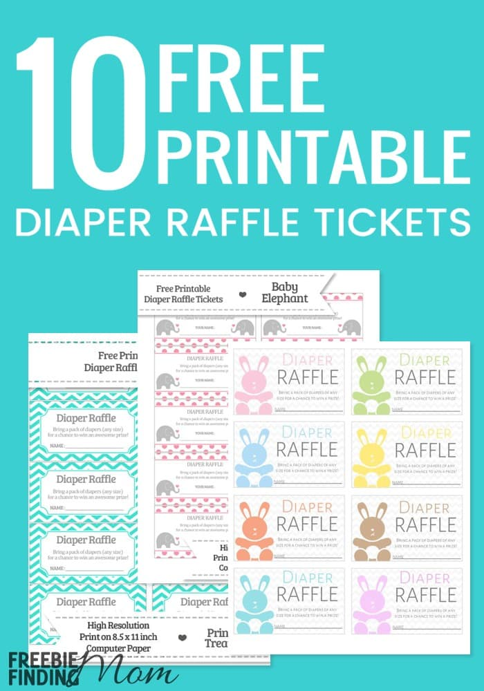 Agile image with regard to diaper raffle tickets printable
