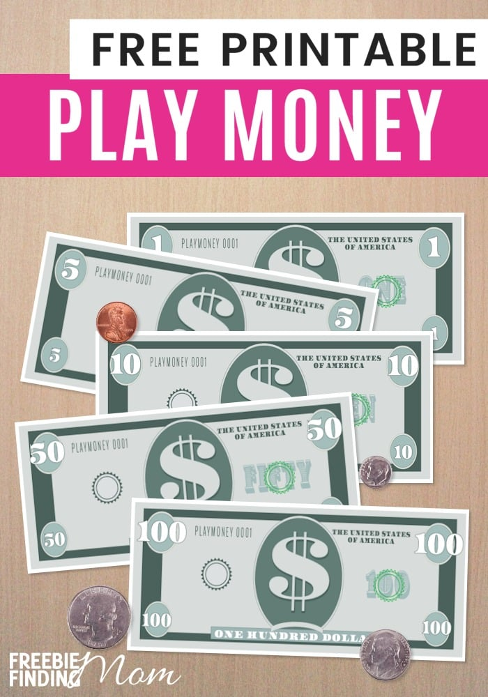 free printable play money template