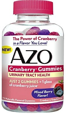 AZO Cranberry Gummies, Urinary Tract Health Dietary Supplement, in Mixed Berry Flavor