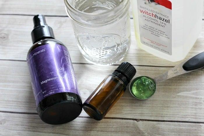 ingredients for mens spray deodorant