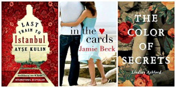 In the Cards by Jamie Beck, Last Train to Istanbu by Ayse Kulin and John W. Baker, The Color of Secrets by Lindsay Jayne Ashford