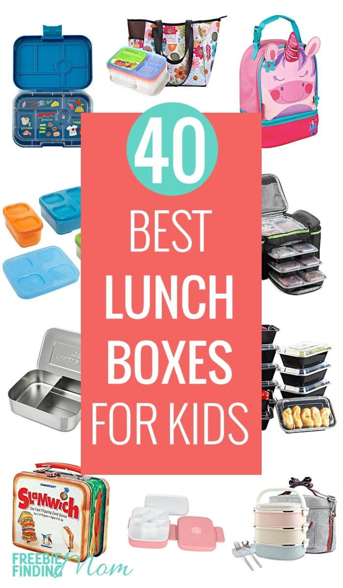 Need help finding the best lunch boxes for kids? Whether your kids are in elementary, middle or high school you'll find the perfect lunch containers for them. Here are 40 of the top-rated lunch boxes on Amazon which includes everything from bento boxes for kids to stainless steel nesting containers in a variety of shapes, sizes and styles. Go on over and pick up your favorites! #lunchboxesforkids #lunchboxes #bentoboxesforkids #lunchboxcontainers #lunch