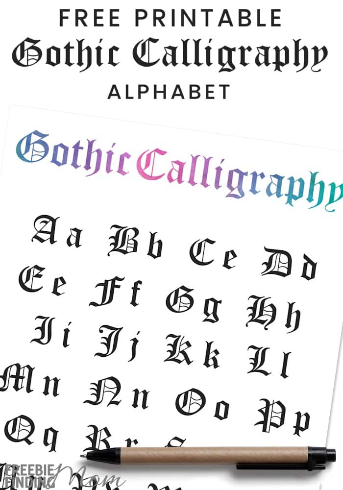 Learn To Write In Gothic Calligraphy Alphabet Download