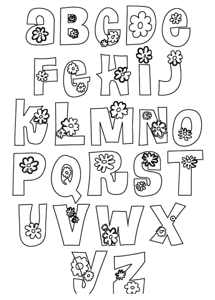 12 Free Printable Bubble Letters Alphabet Templates