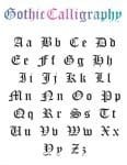 Learn to Write in Gothic Calligraphy (Alphabet Download For Free)