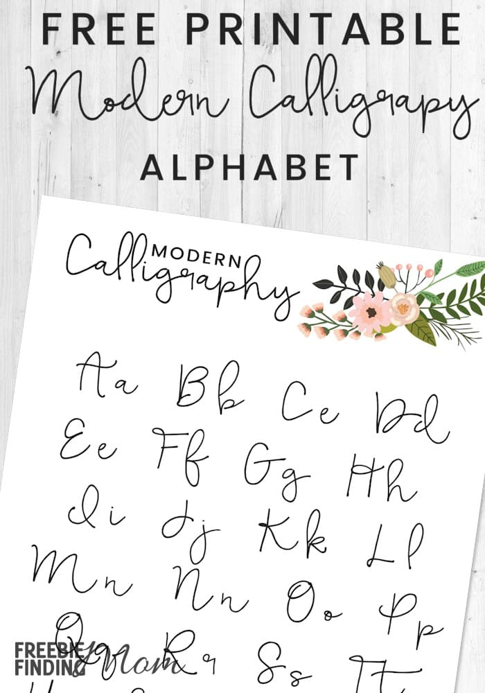 graphic relating to Copperplate Calligraphy Alphabet Printable called Totally free Printable Progressive Calligraphy Alphabet