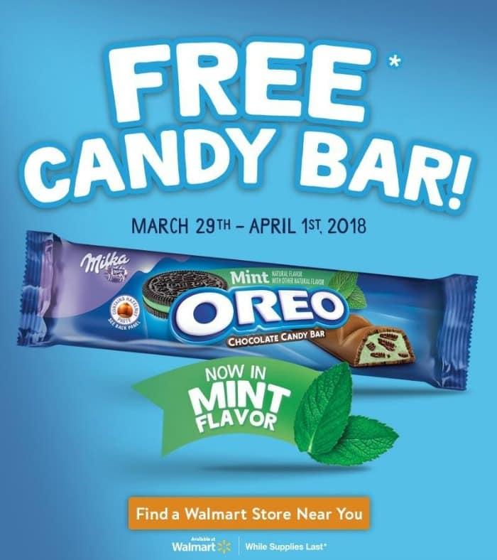 Free Oreo Candy Bar promo