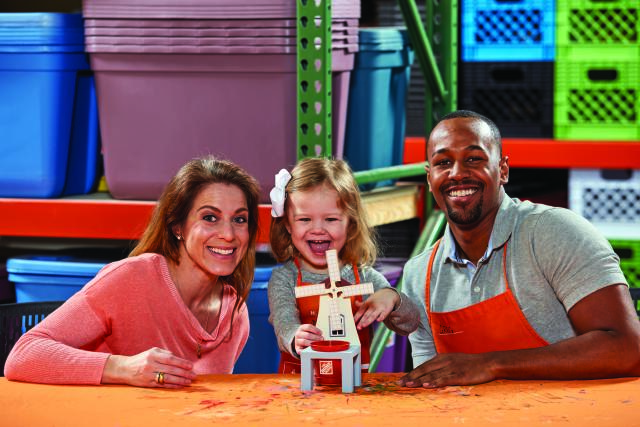 free home depot workshop for kids to build a windmill planter