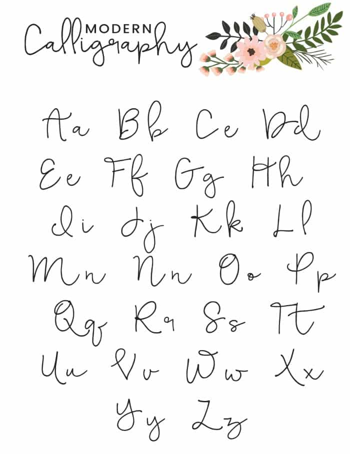 graphic about Copperplate Calligraphy Alphabet Printable known as No cost Printable Innovative Calligraphy Alphabet