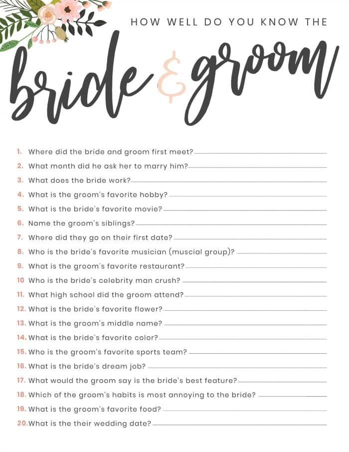 Ambitious image within free printable bridal shower games