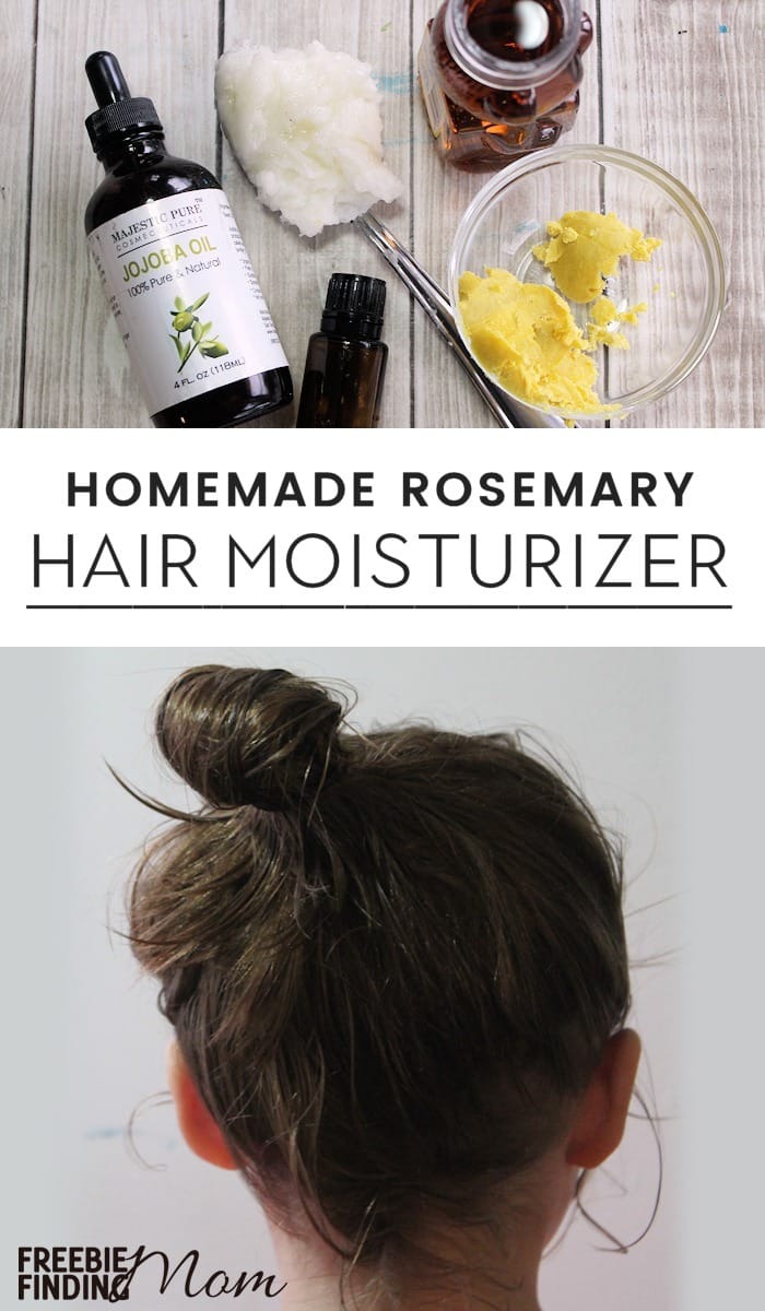 Is your hair looking dry or dull? Give it a hearty dose of moisture by lathering on this Homemade Hair Moisturizer. It takes just five ingredients to whip up this DIY beauty recipe. This recipe contains natural hair moisturizers like jojoba oil, coconut oil, and shea butter to create one of the best hair moisturizers. #hairstyles #haircolor #moisturizer #moisturizinghairmask