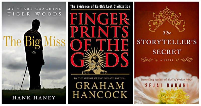 The Big Miss, Fingerprints of the Gods, and The Storyteller's Secret Kindle books