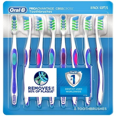 8-Pack of Oral-B Pro Advantage CrissCross Toothbrushes