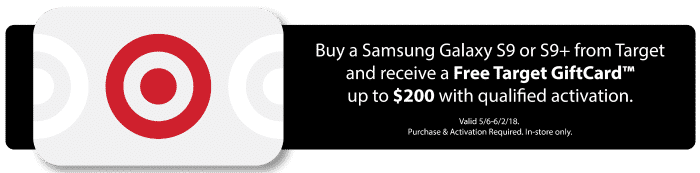 Samsung Galaxy at Target promo