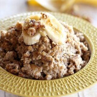 Crockpot Banana Nut Oatmeal