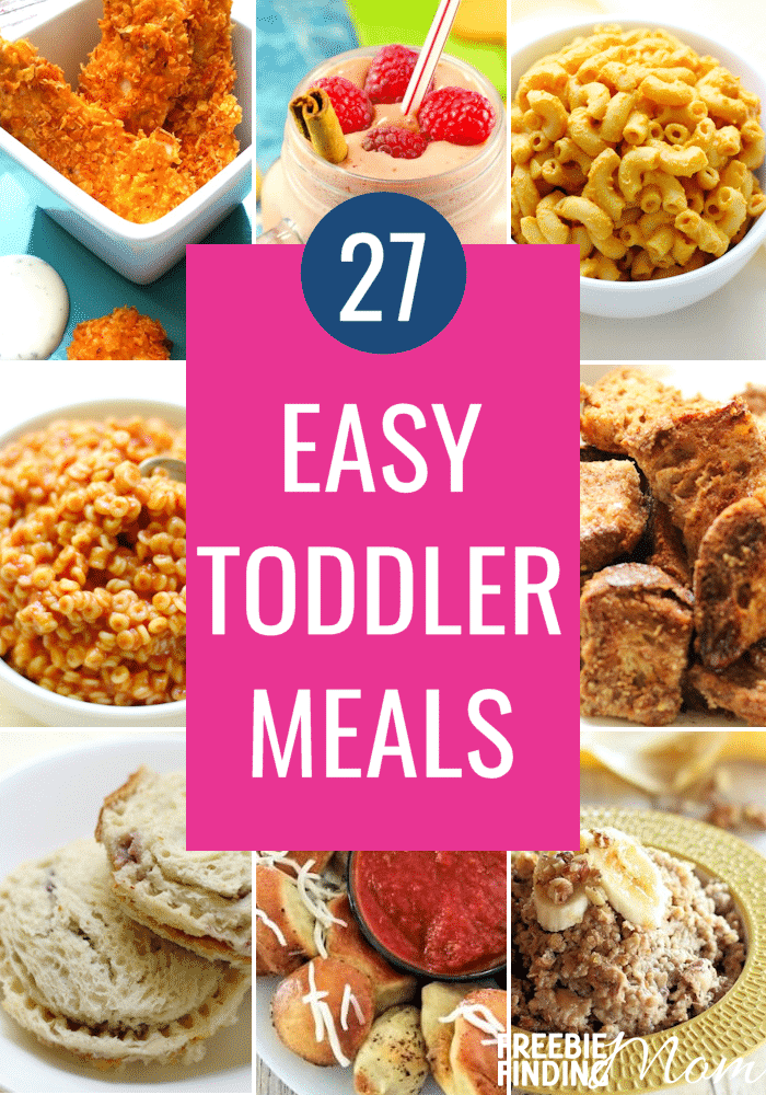 Do you have a picky eating toddler or just want to give your toddler new recipes to try? Either way in this list of 27 Easy Toddler Meals you are sure to find something he will devour. Even better for you these recipes are super simple to make plus several are either gluten free, organic or vegan. #toddlermeals #kidfriendlydinners #easydinnerrecipes #easyhealthydinner