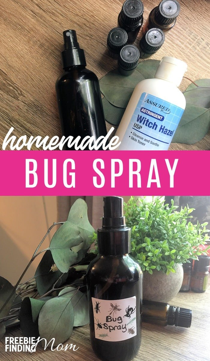 How would you like a way to keep from being eaten alive by bugs but without using harmful chemicals? This Homemade Bug Spray recipe uses powerful essential oils along with witch hazel and water to make an easy, cheap homemade bug spray that will effectively repel pesky critters. #homemadebugspray #homemadebugrepellent #homemadebugsprayessentialoils, #easycheaphomemadebugspray