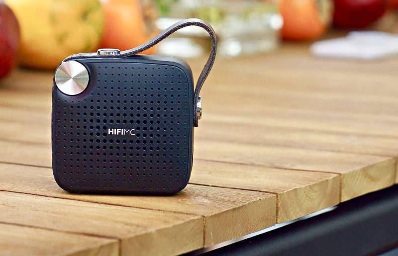 HIFI MC Micro Portable Wireless Bluetooth Speaker in use