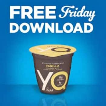 Kroger free Friday download for YQ Yoplait Yogurt