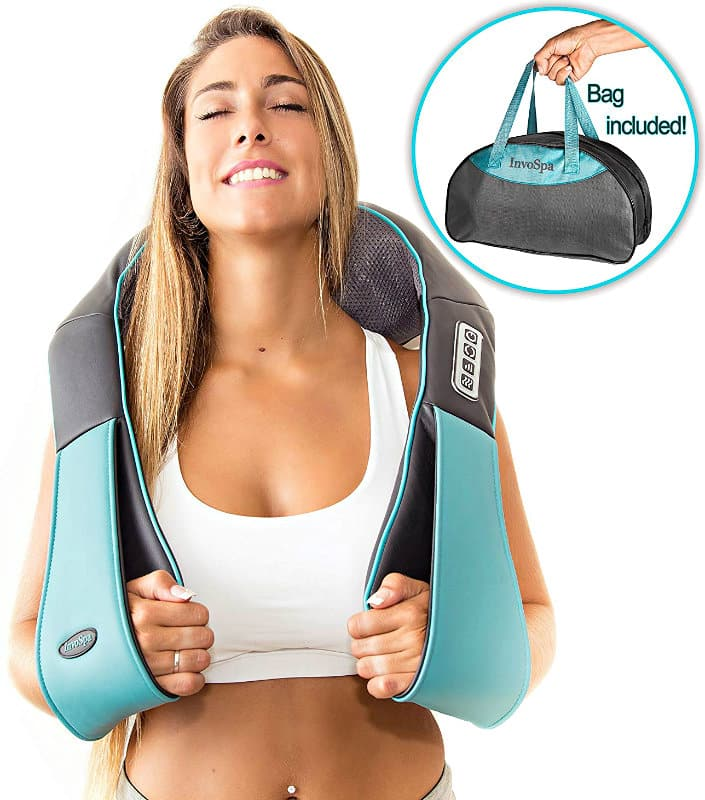 Shiatsu Back Neck and Shoulder Massager in use