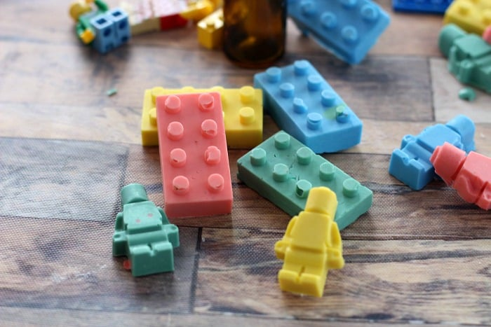 42 LEGO Crafts and Activities for Kids for Endless Fun featured by top US lifestyle blogger, Marcie in Mommyland: homemade soap crayons