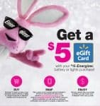 Walmart: Get a $5 Walmart eGift Card With Your $15 Energizer Battery or Lights Purchase