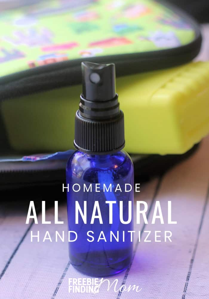 Would you like an all-natural hand sanitizer homemade recipe that you can whip up in minutes? Here you go…you'll need just five ingredients (carrier oil, witch hazel, water, Thieves essential oil and Lavender essential oil) and five simple steps for this recipe. Making homemade hand sanitizers is easier than you may think! #homemadehandsanitizer #homemadehandsanitizerspray #diyhandsanitizer #diyhandsanitizerspray