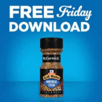 Kroger free Friday download for McCormick Seasoning