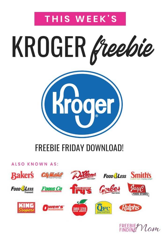 Calling all Kroger and Kroger affiliate shoppers! Check out this week's Kroger free Friday download! If you love snagging free samples be sure to come back weekly for a new couponing freebie! #krogercouponing #krogercouponingfreesamples #krogercouponingshopping #krogercouponingtips